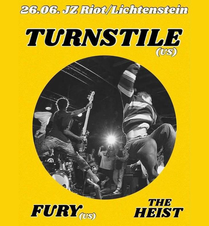 Konzert mit TURNSTILE | FURY | THE HEIST @JZ Riot
