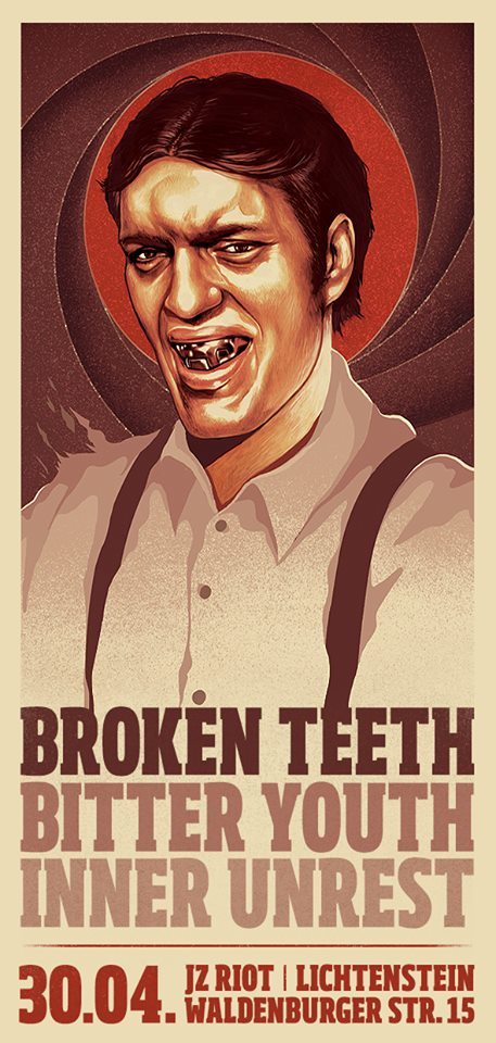 Konzert mit Broken Teeth, Bitter Youth, Inner Unrest@JZ RIOT