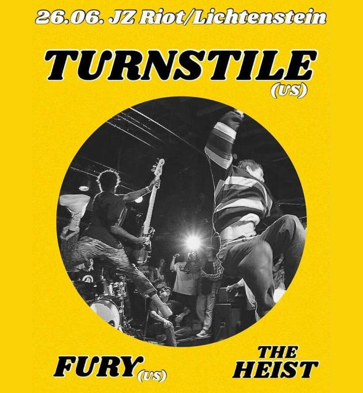 Konzert mit TURNSTILE | FURY | THE HEIST @JZ Riot
